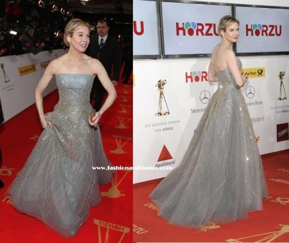 Renee Zellweger, exquisita de Carolina Herrera, en los Golden Camera Awards en Berlín