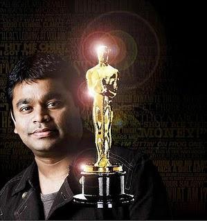A.R Rahman en la entrega de Premios de los Oscars