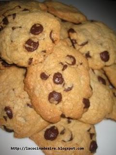 COOKIES AMERICANAS CON CHIPS DE CHOCOLATE