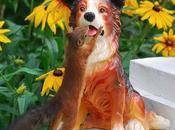 ardilla enamorada perro