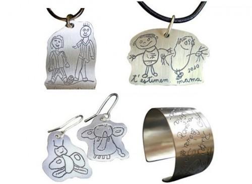 Joyas Piacci Argent personalizadas con los dibujos de tus niños