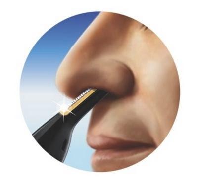 Cortar el vello nasal