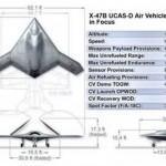 El Bombardero furtivo X-47B en su primer vuelo