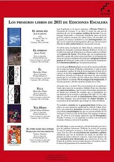 Ediciones Escalera: primeros libros de 2011