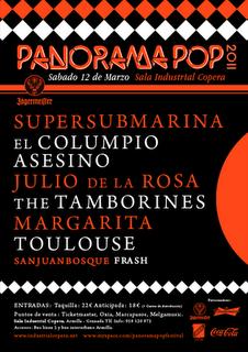 Cartel del Panorama Pop Festival 2011