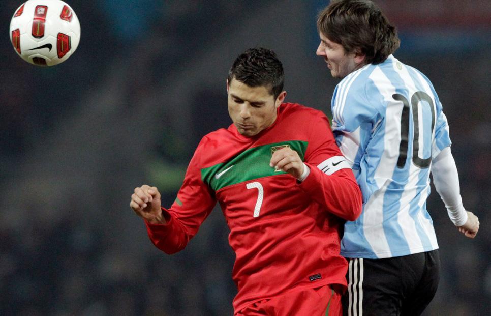 era Cristiano contra Messi, dos de los mejores jugadores del planeta