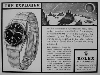 Origen del legendario Rolex explorer