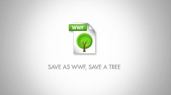 WWF :: nuevo formato ecológico del PDF