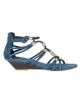 Topshop suede wedge sandal