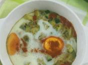 Huevos plato puerro calabacín