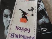 Marca paginas halloween punto cruz -reto calabazas-