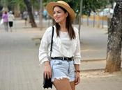 White blouse denim