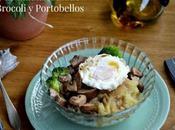 Puré Patata Trufado Portobellos Brocoli