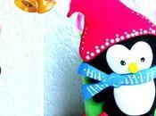 Bolsita dulces pingüino navideño reciclando cajas leche