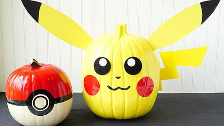 Calabazas decoradas de Pokemon para Halloween