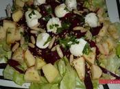 Ensalada manzana remolacha fresca