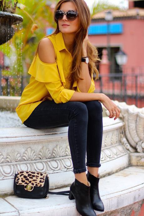 Mustard Ruffle Shirt