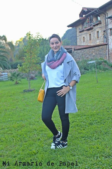Outfit: Chaqueta Gris