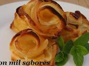 Rosas manzana almibar hojaldre