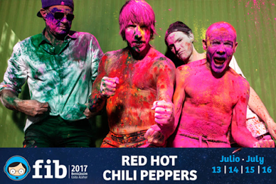 FIB 2017 Confirma a RED HOT CHILI PEPPERS