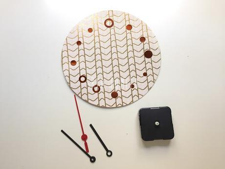 Diy c mo tunear el reloj rusch de ikea paperblog - Mecanismo reloj pared ikea ...