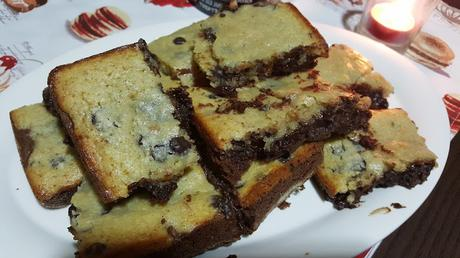 amantes del chocolate... brownie dos colores!!!
