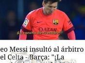 Cristiano insulta árbitro hace Messi
