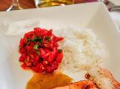 Salmon arroz ensalada meswhiya