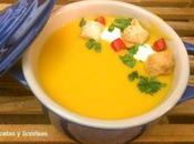 Sopa calabaza, naranja leche coco