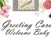 Tarjetas Welcome Baby Boy/Girl Handmade Greeting Cards.