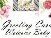 Tarjetas Welcome Baby Boy/Girl Handmade Greeting Cards.