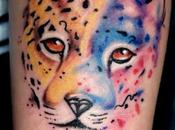 Tatuaje leopardo watercolor