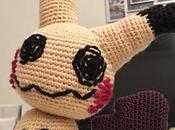 Pokémon Mimikyu crochet. Making