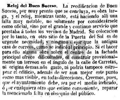 El reloj de la puerta del sol en tiempo real madrid 1866 for Que es la puerta del sol en madrid