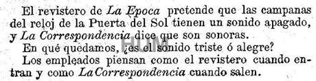 El reloj de la puerta del sol en tiempo real madrid 1866 paperblog - Como llegar a la puerta del sol ...
