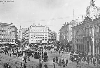 el reloj de la puerta del sol en tiempo real madrid 1866