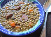 Lentejas tradicionales chorizo