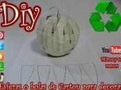 Diy. Como hacer esferas carton para decorar.