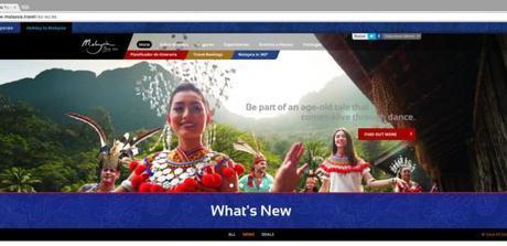 Turismo Malasia nos presenta su nueva web, para informar de los nuevos eventos y destinos del año 2016