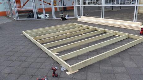 Estructura para suelo de la caseta