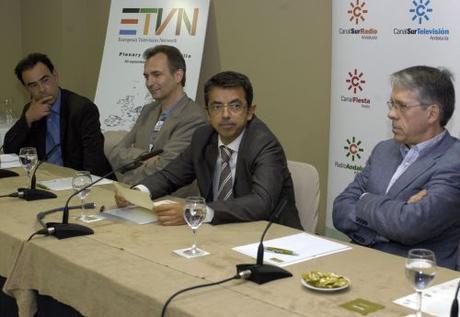 EBU, RTBF, Canal Sur TV y aNews, durante el plenario de ETVN en Sevilla