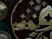 Tarta chocolate galletas para navidad