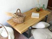 Mesa madera natural para salón