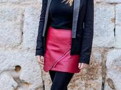 Look day: leather skirt