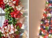 Coronas navideñas árboles decorados moños regalo