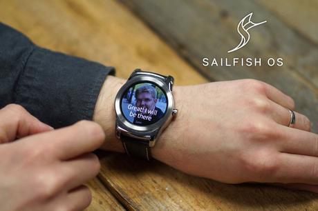 Jolla nos muestra un reloj funcionando con Sailfish OS