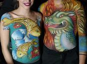 Bodypaint fiesta Lady blue tattoo