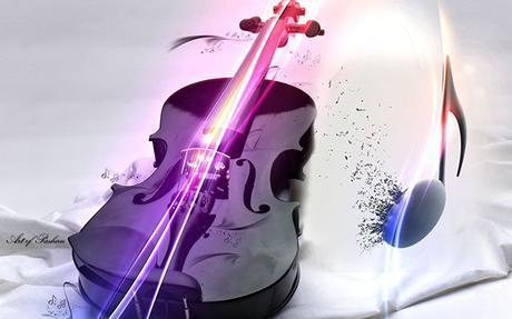 music_black_white_violin_inspiration_wallpaper