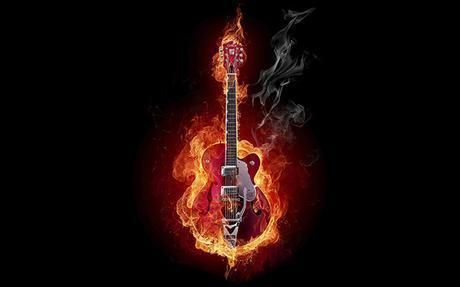 guitar_fire_instrument_smoke_wallpaper