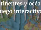Continentes océanos. Juego interactivo.